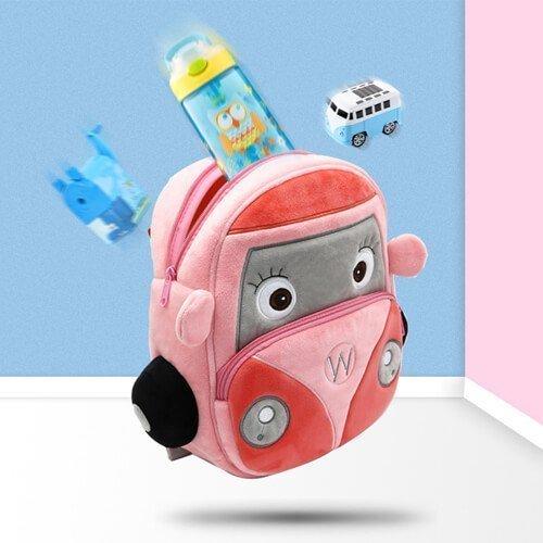 Plush pink car bags