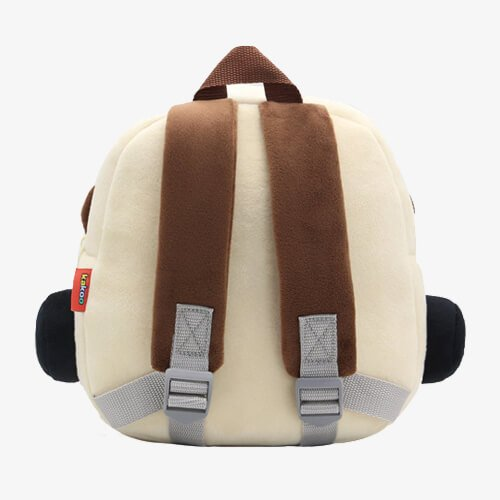 plush brown car bags