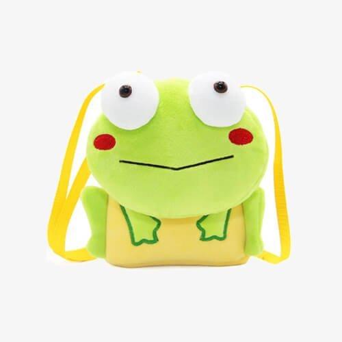 Plush frog handbags