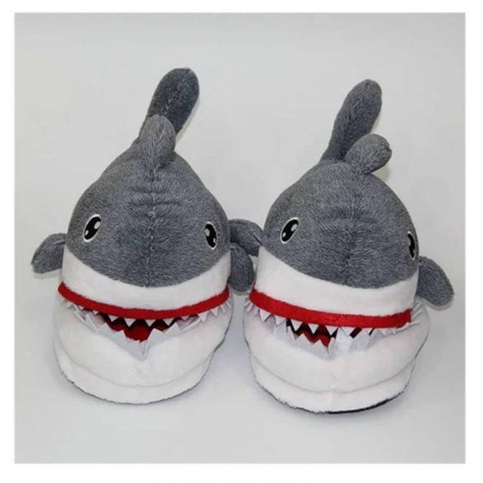 plush shark shoes