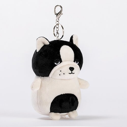 stuffed bulldog keychain animals toy