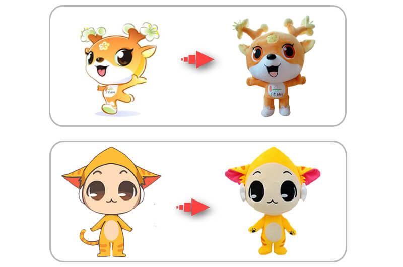 Plush mascot toy