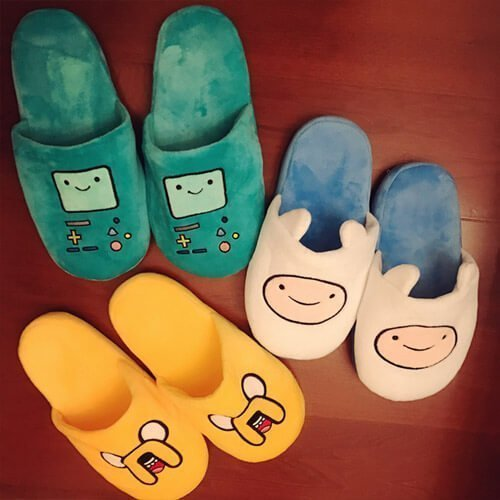 plush cute home slippers