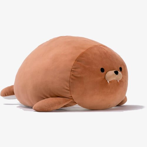stuffed brown seal animals toy