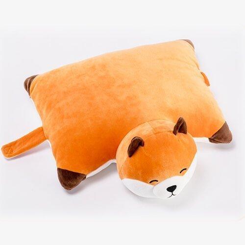 stuffed orange fox animals pillow toy