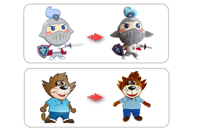 Plush mascot toy design
